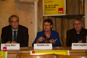 v.l.n.r.: Florian Ritter, Reinhilde Leitz, Hanno Lang-Berens