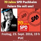 Plakat zur 70-Jahr-Feier der SPD Puchheim